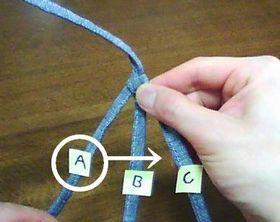 Aの紐をBC間に移動