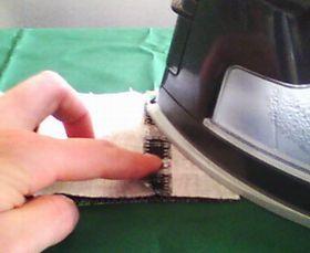本体の縫い代を割る