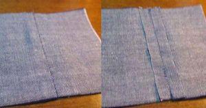 ミシン糸を布と同系色にして縫ったもの