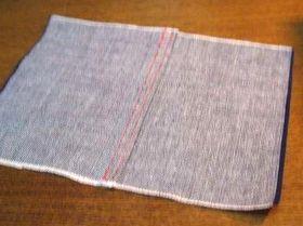 折り伏せ縫い(裏側)