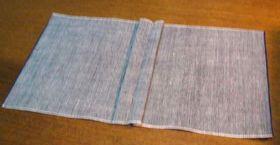 左右の縫い代幅が揃うようにする