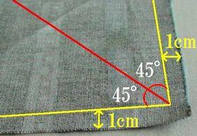 1cmと45度の折りライン