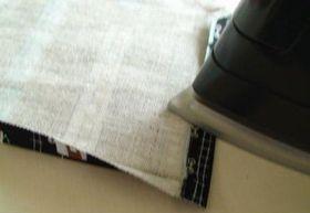 布端を1cm折る
