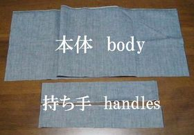 body fabric and handles