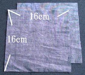 フタ用の布