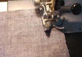 フタ布を縫い合わせる