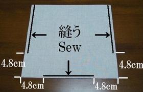 外布の縫いライン