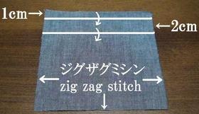 ポケットの折り位置と縫い位置