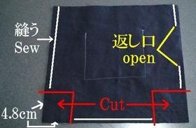 内布の縫い方