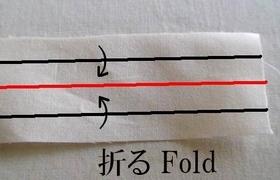 4つ折りのライン