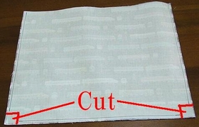cut off extra cloth