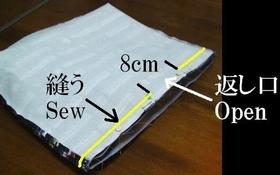 入れ口の縫いライン