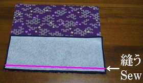 sew the outer and bottom patches