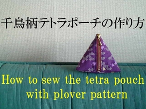 tetra pouch with plover pattern