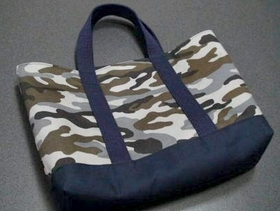 tote bag with camouflage pattern