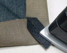 角の縫い代を割る