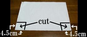 cut off extra cloth
