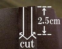 cut the extra seam allowances