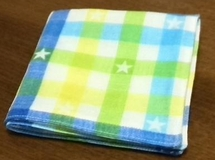 plaid gauze handkerchief