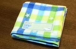 plaid gauze handkerchief