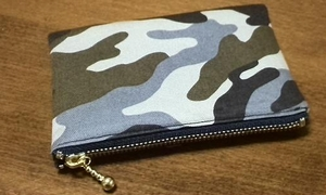 camo zippered pouch