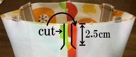 脇の縫い代をカット