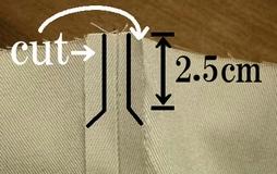 余分な縫い代カット
