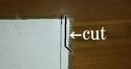 縫い代の余分をカット