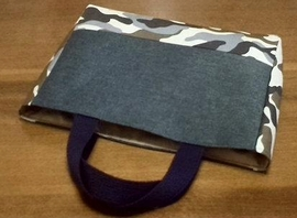 tote bag (denim and camouflage)