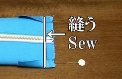 縫い付ける