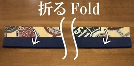 fold the fabric with right side