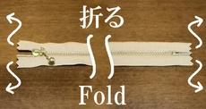 fold the zip tape