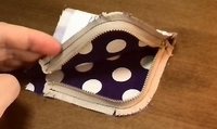 sew the other side of zipper