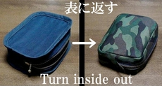 cosmetic pouch (camouflage pattern)
