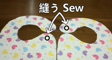 sew the fabric and velcro tape