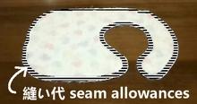 make a cut in seam allowances
