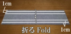 fold in three