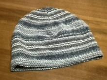 watch cap with stripe pattern