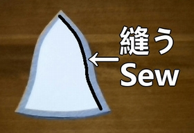 sew the outer fabrics