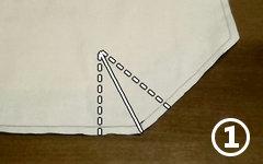 8角形の隅を折る