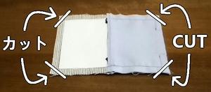 coupez l'excès de tissu