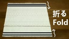 fold the main fabric in three