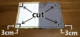 cut off extra cloths