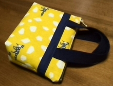 zippered pouch with handles