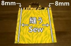 脇の部分を袋縫いにする
