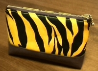 tiger zippered pouch