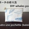 une pochette de motif baleines