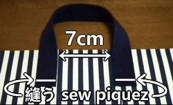 sew the outer fabric and handle