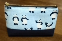 patched panda pouch