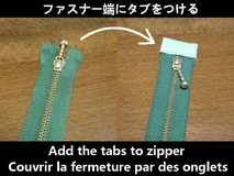 add the tabs to zipper